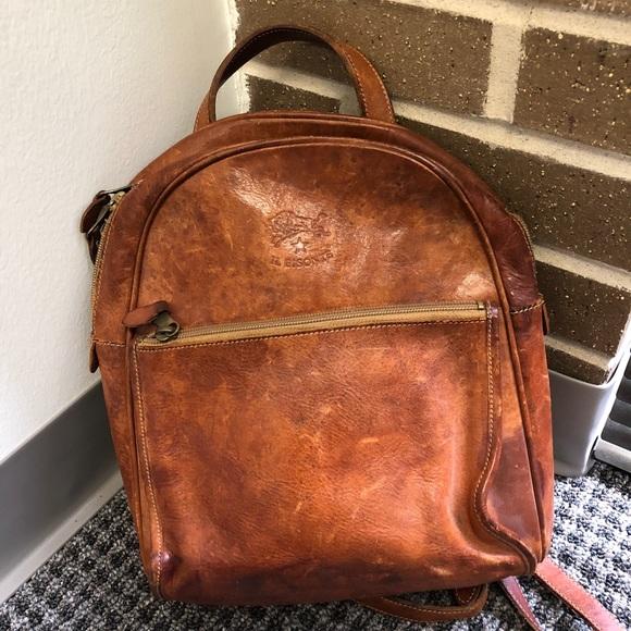 6156f0363766 iL bisonte Handbags - Vintgage iL Bisonte Leather Backpack